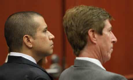 George Zimmerman and Mark O'Mara during Zimmerma's bond hearing on Friday