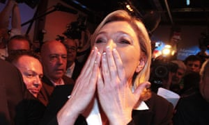 Marine Le Pen during the French Presidential Election First Round, Paris, France - 22 Apr 2012