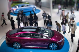 Beijing motor show: Exhibits of the latest in car technology from Japanese giant Toyota