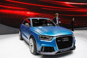 Beijing motor show: An Audi RS Q3 concept car is displayed