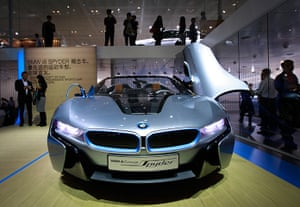 Beijing motor show: The latest BMW concept vehicle i8 Spyder on display