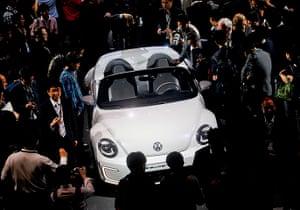 Beijing motor show: The Volkswagen E-Bugster Speedster concept car is presented