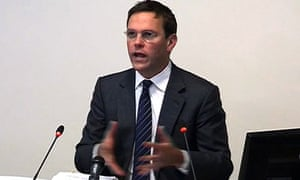 James Murdoch giving evidence at the Leveson Iquiry