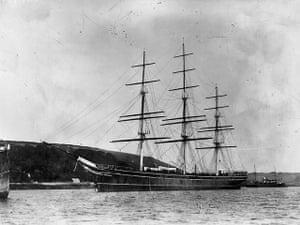 Cutty Sark: A photograph of the Cutty Sark taken around 1890