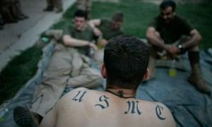 US marines near Fallujah, Iraq