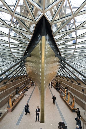 Cutty Sark photo call: The bow of the restored Cutty Sark