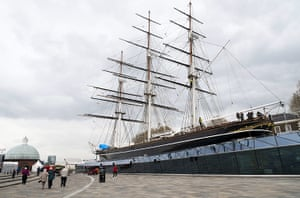 Cutty Sark ship: The exterior of the restored Cutty Sark