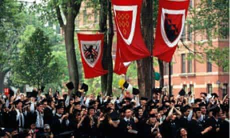 A graduation ceremony at Harvard University