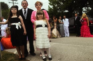 Booneville, Kentucky: The Taylor family attend the start of the Owsley County High School prom