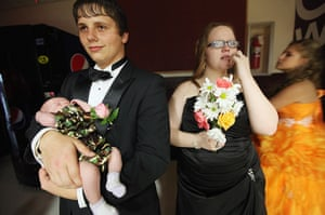 Booneville, Kentucky: Married students at the the Owsley County High School prom