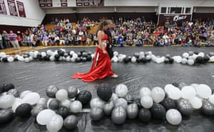 Booneville, Kentucky: Students enter the Owsley County High School prom