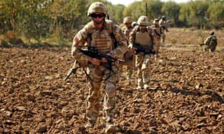 British soldiers on patrol in Helmand province, Afghanistan