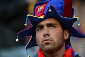Barcelona v Chelsea: A pensive Barcelona supporter