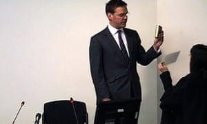James Murdoch sworn in at Leveson