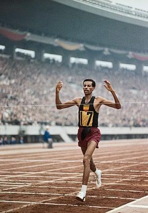 50 moments: Abebe Bikila Winning Second Olympic Marathon