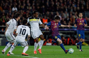 Barcelona v Chelsea: Didier Drogba, Lionel Messi, Frank Lampard, Juan Mata