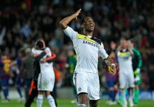 Barcelona v Chelsea: Chelsea's Didier Drogba celebrates