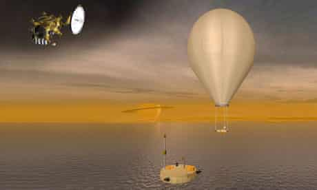 Artist's impression of proposed 'boat' mission to Saturn's moon Titan