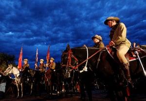 Anzac Day: Members of the Mudgeeraba light horse troop commemorate ANZAC Day