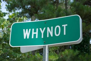 silly names: Whynot, near Seagrove, North Carolina