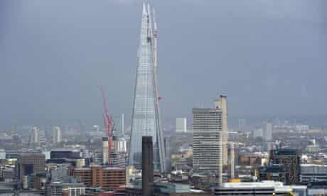 Building work in London's cityscape