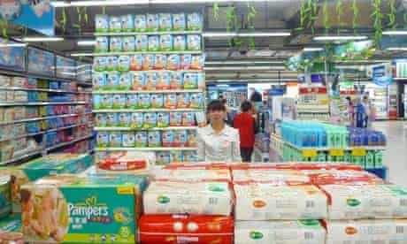 A supermarket in Beijing catering for the consumer boom