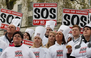 Picture Desk Live: Save our Savourites protest in Downing Street