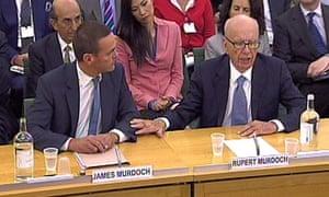James Murdoch and Rupert Murdoch