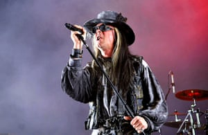 Goths: Carl McCoy of goth rock band Fields of the Nephilim performs in London