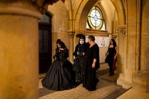 Goths: Goths attend the annual Wave Gotik festival in Leipzig