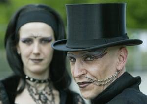Goths: Goths arrive at the Wave Gotik festival in Leipzig