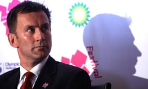 Culture secretary, Jeremy Hunt, at the launch of the London 2012 Festival