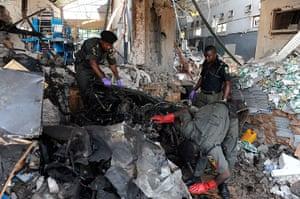 Picture Desk Live: Suicide bomb in Abuja