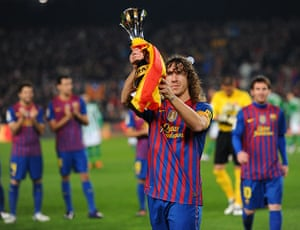 Guardiola resigns: Barcelona's captain Carles Puyol shows