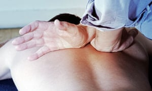 A patient receiving chiropractic treatment