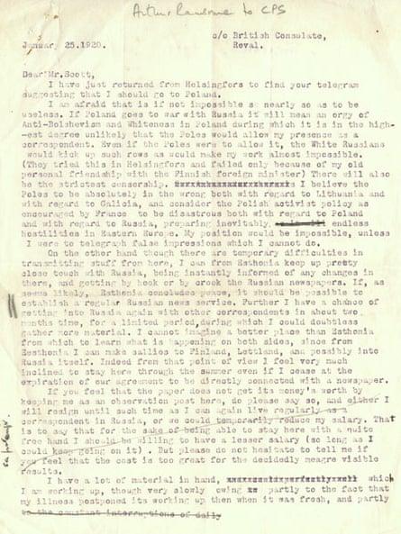Education Centre Archive Ransome Letter