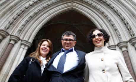Vincent Tchenguiz with his legal team