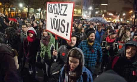 Quebec student protests flare