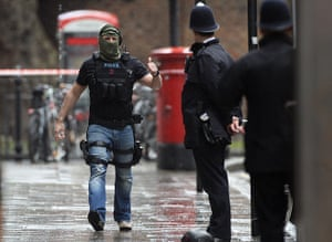 Picture desk live: Armed police officers on the scene at Tottenham Court Road