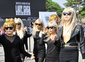 Picture desk live: Lady Gaga fans wait at Seoul's Olympic Stadium before concert