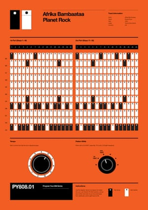 Rob Ricketts' Program Your 808 poster for Africa Bambaataa Planet Rock
