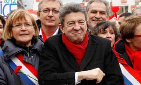 Jean-Luc Melenchon and French Communist MP Marie-Georges Buffet