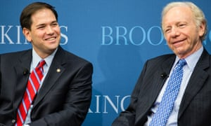 Marco Rubio with Joe Lieberman