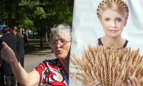 A supporter of  Yulia Tymoshenko