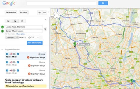 google adds live london underground updates to maps travel the guardian