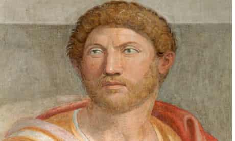 Fresco of the emperor Hadrian