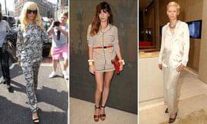 Rihanna, Lou Doillon and Tilda Swinton in pyjama style trend