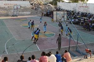 Somalia: Basketball game in Mogadishu