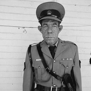 Roger Ballen: Sergeant F. De Brun 1992, Department of Prisons employee