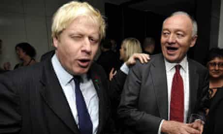 Boris Johnson Ken Livingstone Evening Standard 1000 Influential Londoners party